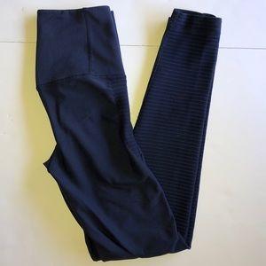 Nike Dri-Fit Dark Blue Ribbed Leggings